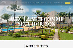 Conception site internet hotelazur.cg
