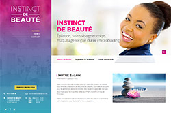 Conception site internet instinctdebeaute.fr