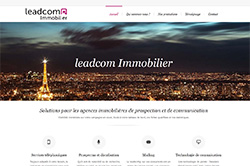 Conception site internet leadcom-immobilier.com