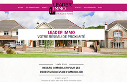 Conception site internet leader-immo.com