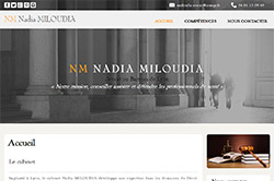 Conception site internet nmiloudia-avocat.lafabrique2sites.net