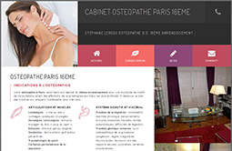 Conception site internet cabinet-osteopathe-paris-16.fr